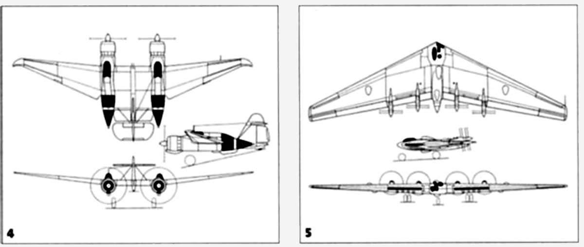 Схемы самолета ДБ-ЛК, XB-35