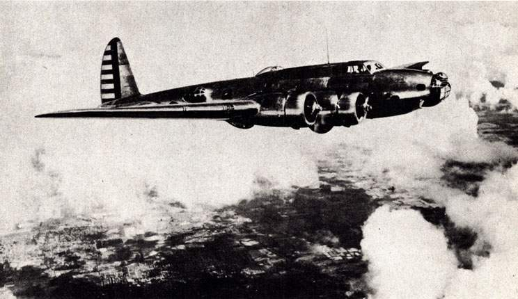 THE FIRST B-17B left Seattle 1 August, 1939