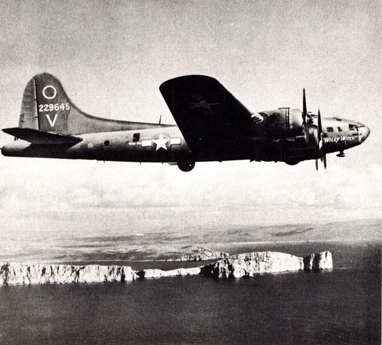 The B-17F 'Wiley Witch' # 229645