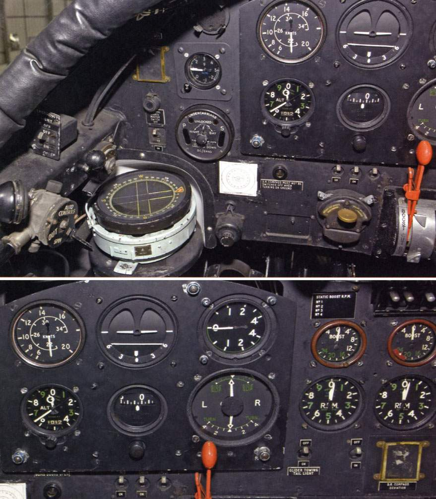 Close-up of the left-hand side of the instrument panel.