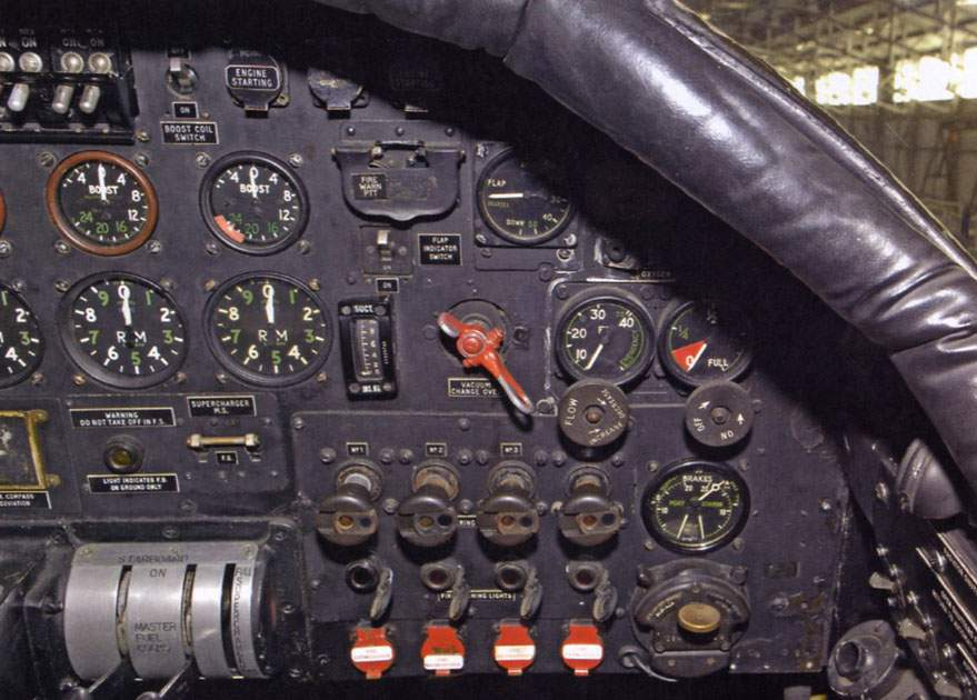 Right-hand side of the instrument panel