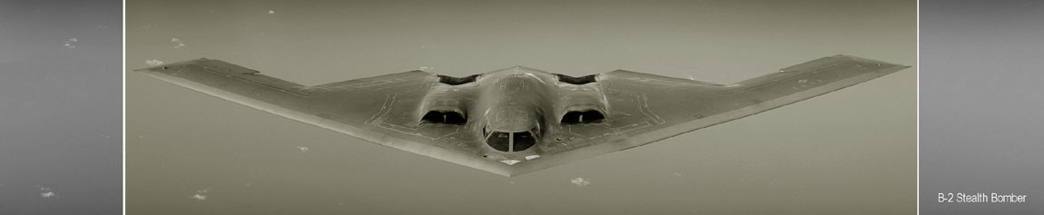 B-2 Stealth Bomber in flight