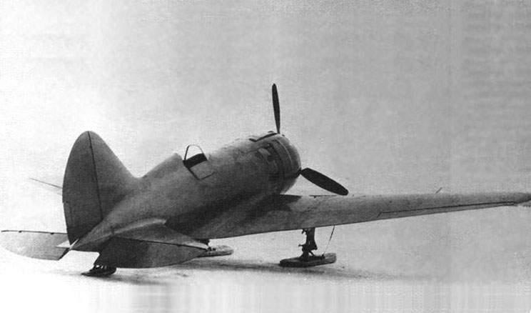 И-180-3 на лыжном шасси, весна 1940