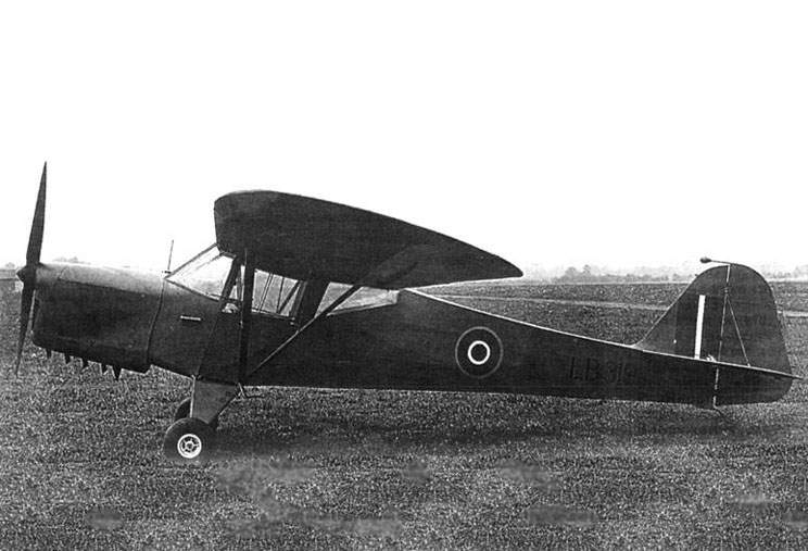 Taylorcraft «Auster» Mk I of the 651-st Squadron RAF, autumn 1942