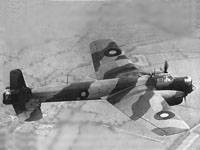 Whitley MK.V in flight