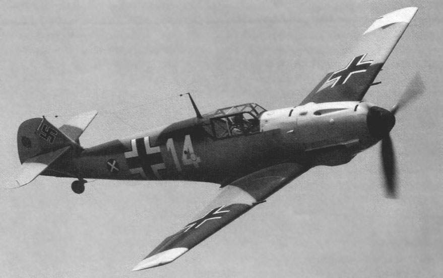 Bf 109E in flight