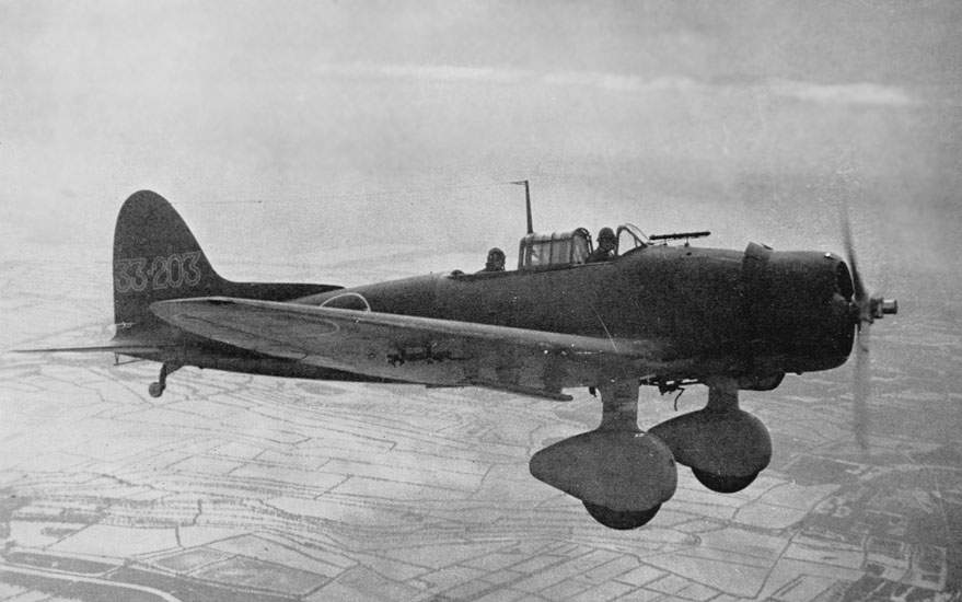 Aichi D3A1 (99) in flight at summer 1941