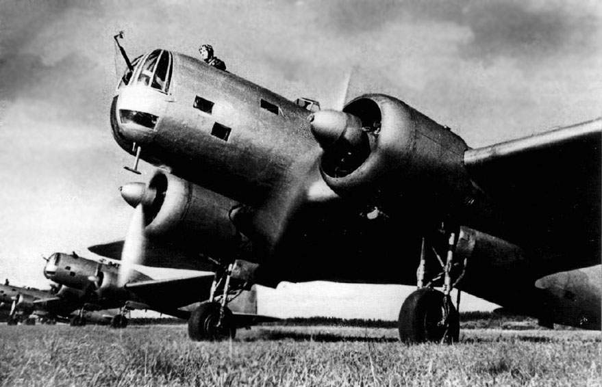 The DB-3 - the participant of the first strikes to Berlin