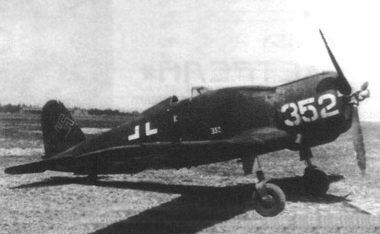 Freccia Fiat G-50 at Luftwaffe