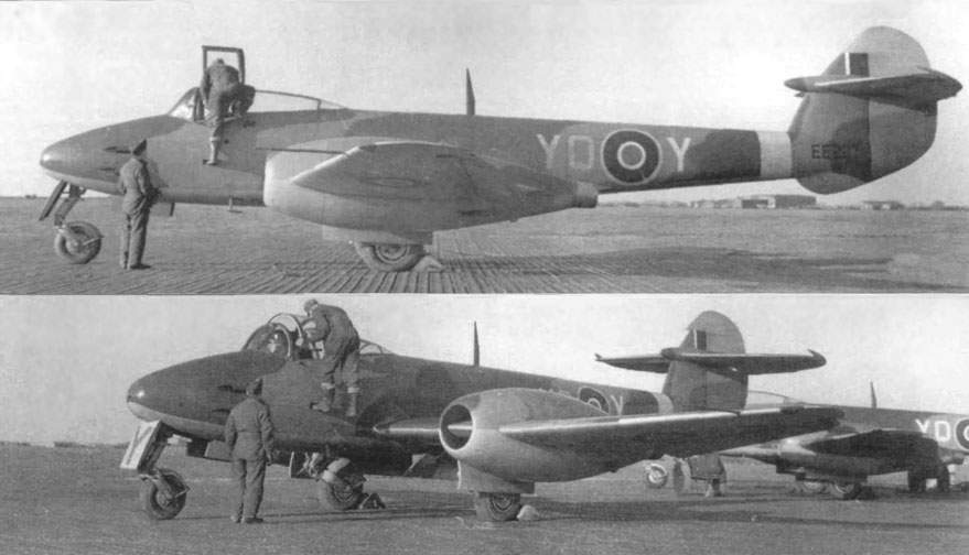 Two Meteor F.1 of 616-th Squadron at 1944