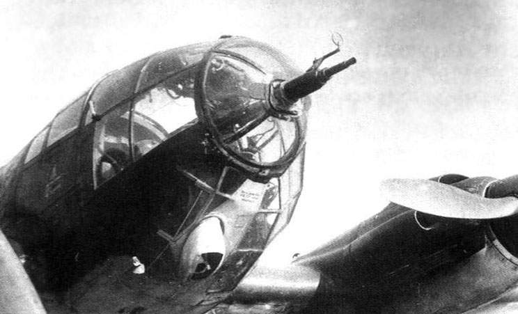 Nose of an He 111H-11 bomber from II/KG53 Group