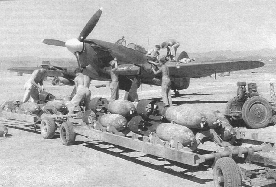 'Train' with bombs for 'Hurricane IIC', Burma