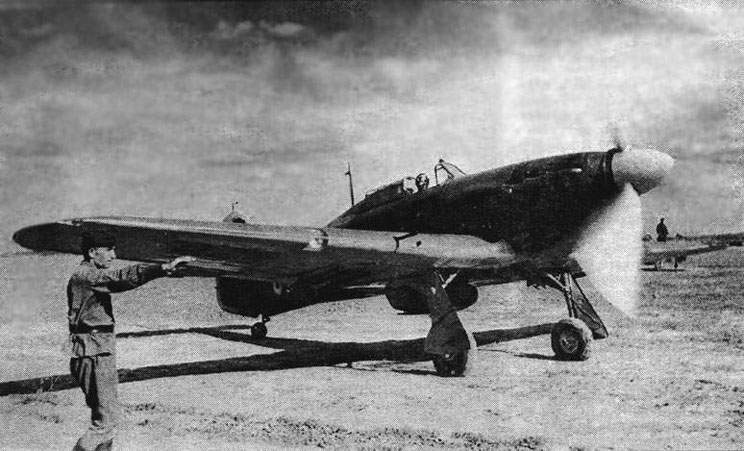 'Hurricane' with soviet armament-2xShVAK, 2xUB and RS