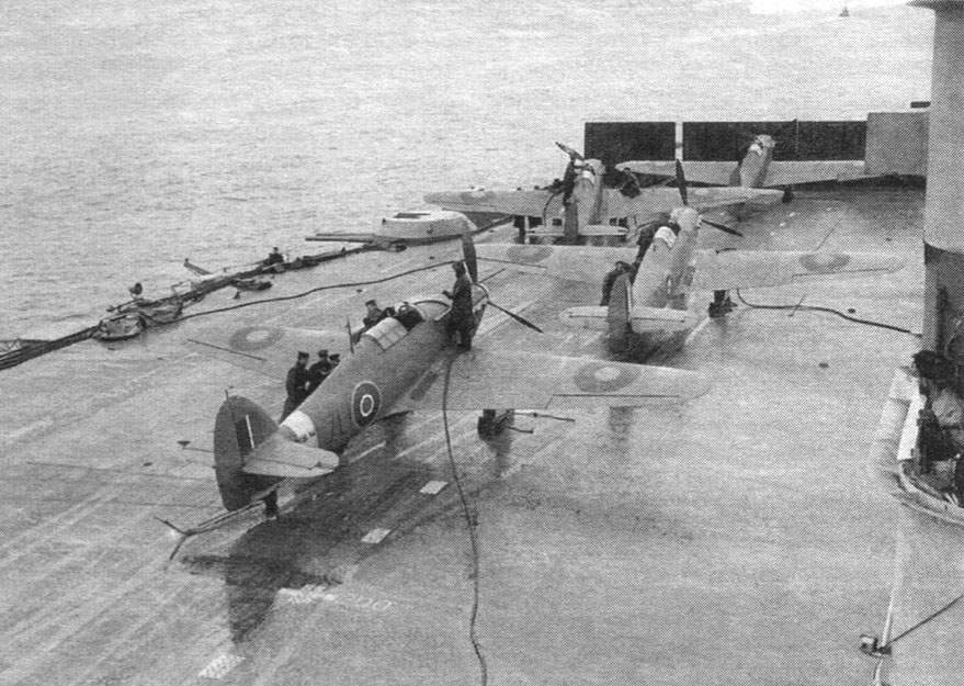 Sea Hurricane Mk. IB on a deck of an aircraft carrier 'Victorious', June 25-27, 1942