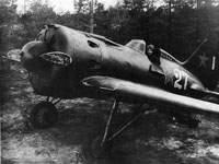 И-16 тип 24 лейтенанта Кричевского. Аэродром Будогощь, Ленинградский фронт, 1943 г. (В.Станков)