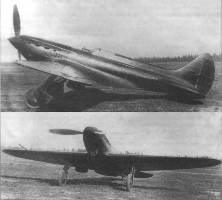 Третий опытный экземпляр И-17 (ЦКБ 19бис) в процессе испытаний пушечного вооружения. 1937