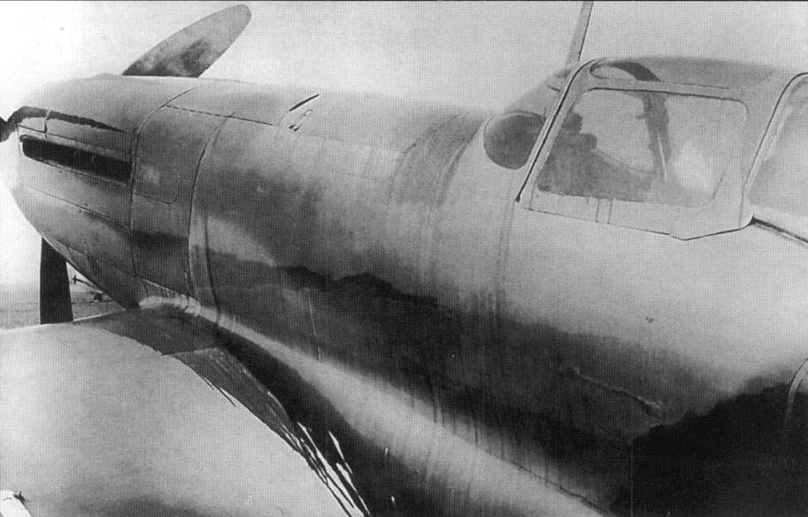 The I-230 (D) fighter with fuselage covered with oil