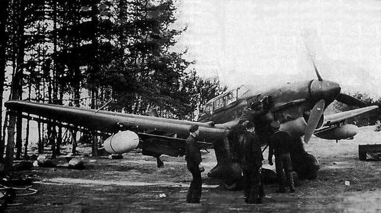 The Ju-87R-1 in vicinities of Minsk, end of summer, 1941