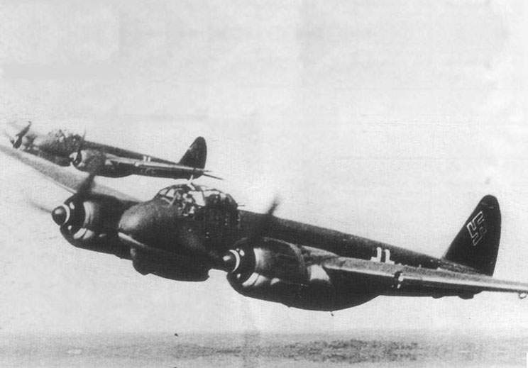 Fighters Ju-88C from V./KG-40