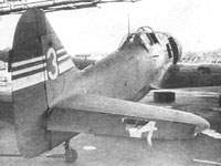 Ki-100-II with damaged elevator