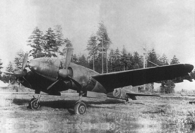 Trophy Japanese reconnaissance Mitsubishi Ki-46-III at tests in the USSR