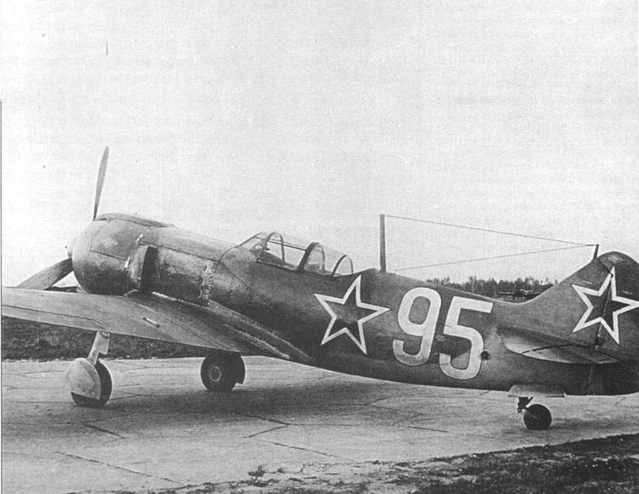 The La-5FN (board number 95) on the LII airfield