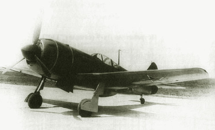 La-9 fighter at the Production Plant evaluation, 1946
