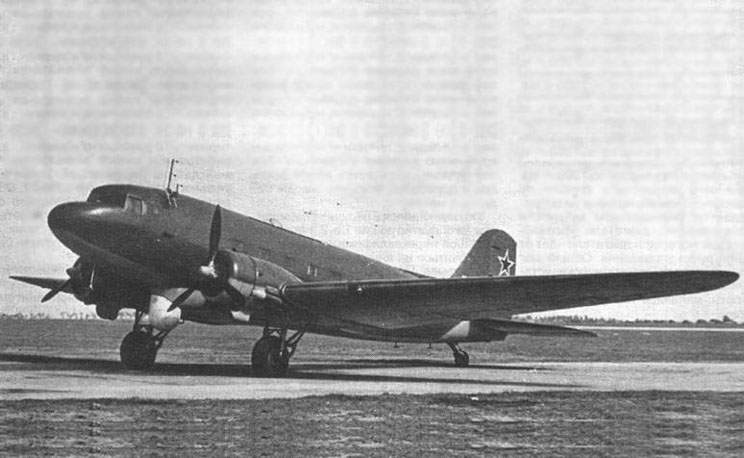 The Li-2R with engines ASh-62IR