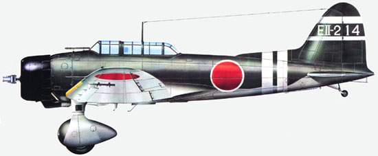 Aichi  Type 99  Carrier  Dive-Bomber  Model  11 flown by Lt.  Kazuo Yakushiji of Aircraft Carrier 'Zuikaku,' Carrier Division 5.