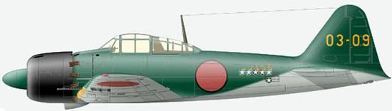 A6M5 mod 52 - 203 кокутай, самолет старшины Такео Танимицу, июнь 1945