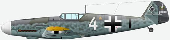 The Bf 109G2 of commander 7/JG5, oberlieutenant T.Vajssenberger, 1943.