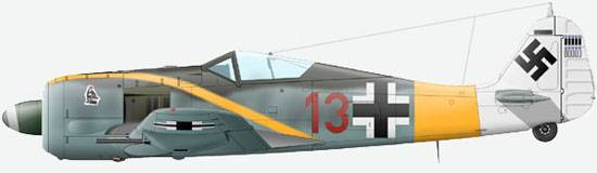 The FW 190A-5/U12 of the commander 2./JG11 lieutenant Erih Hondt, an autumn of 1943.