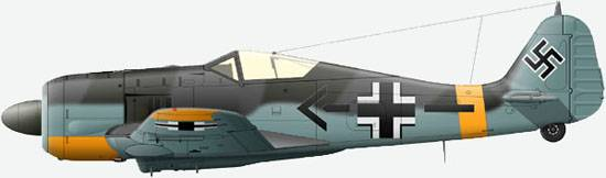 The FW 190F-3 from a squadron SchG1 of commander major A.Drushel, summer 1943 (Kursk fight).