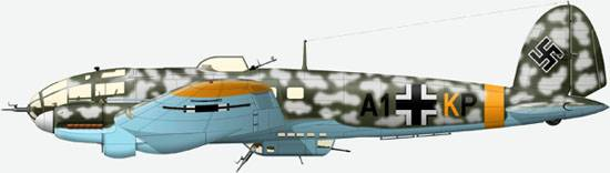 The He 111H-11 from a structure 6./JG53, February, 1942
