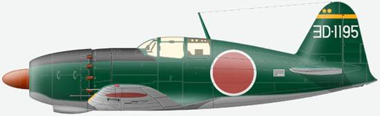 Mitsubishi Raiden J2M-3 Model 21, 302-nd Kokutai, spring 1945.
