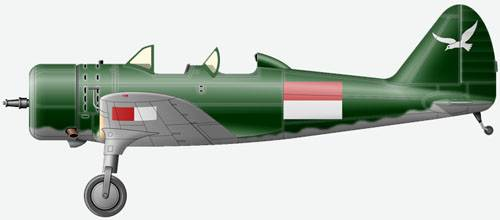 Mansyu Ki.79b (two-seat version) from Air Force of Indonesia, 1946.