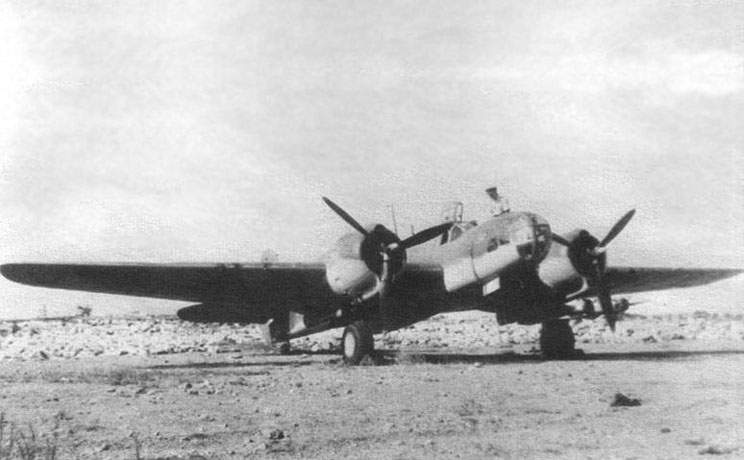 Martin 167 on airfield in Egypt