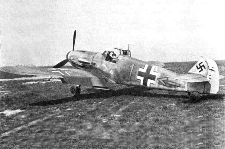The Bf 109F-4/B of the commander of 10./JG2