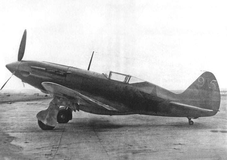The MiG-3 # 3595 fighter powered with AM-38 engine