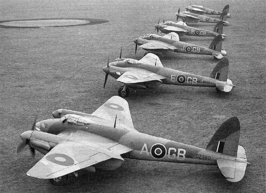 Mosquito IVs of 105 Squadron at Marhamn on 11 December 1942