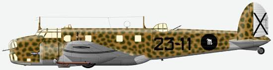 Fiat BR.20 from 230-th squadron of 35-th mixed airgroup of the Italian forwarding corps in Spain, 1938.