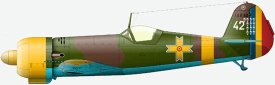 The IAR 80 from a structure of 8-th fighyer group Air Force of Romania, an autumn of 1941.