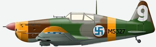 The MS 406 from structure LeLv 28, air force of Finland, pilot U.Lehtovara, winter 1940.