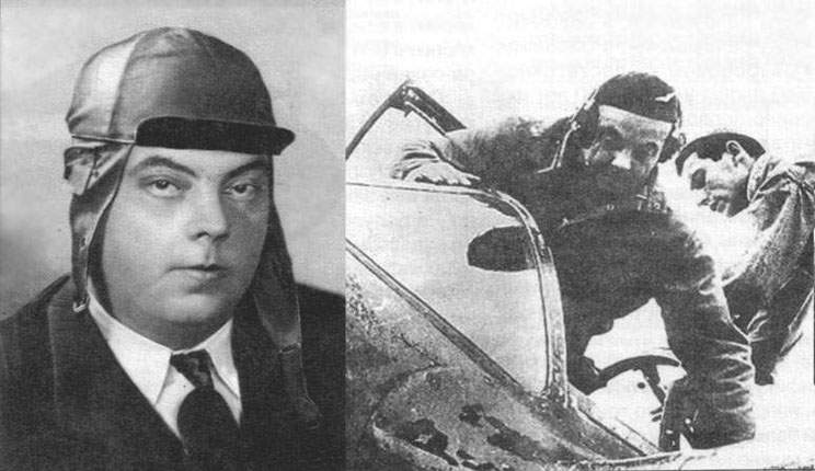 Antoine de Saint-Exupery in the P-38 cockpit