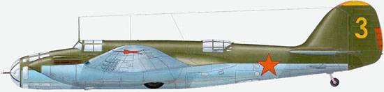 Arkhangelskiy Ar-2 from structure of the Kiev Special military district, July 1941