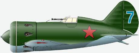 Polikarpov I-16 type 5 from 160 Wing, of B.N. Yeremin
