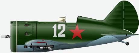 Истребитель И-16 тип 29 из состава 4 гиап ВВС КБФ