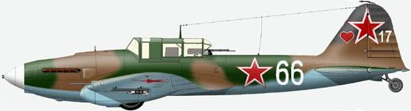 The Il-2 type3 (the wing with the 'arrow') from 281 ShAD , 14 Air Army