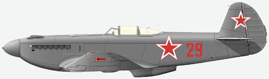 The Yak-9U from 518 Fighter Wing on which at the end of 40 - the beginning of 50th lieutenant M.I.Mihin flied.