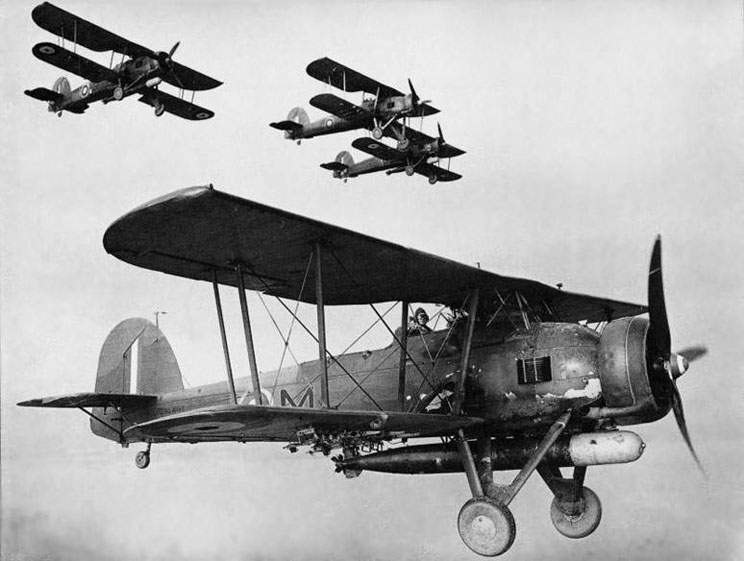 Fairey Swordfish Mk II LS326 - photograph by Gordon Bain